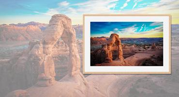45bd135f8ccab2 Ihr Foto im Holzrahmen. Edle Echt-Holzrahmen mit. Passepartout,  Kaschierung, Glas. Fotoleinwand preiswert & schnell online bestellen