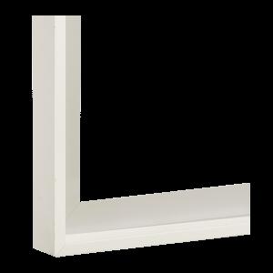 Weiß glänzend lackiert (16-1102)