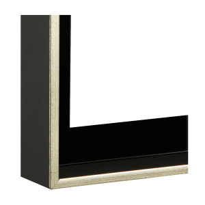 Schwarz matt - Sichtkante Silber (16-1148)