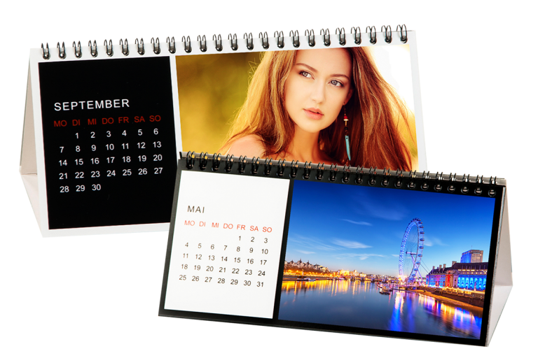 Tischkalender - Muster Querformat