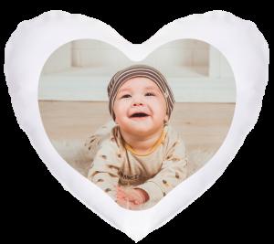 Herzkissen - Beispiel mit Herzausschnitt