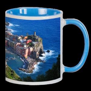 Panorama-Fototasse blau - Muster